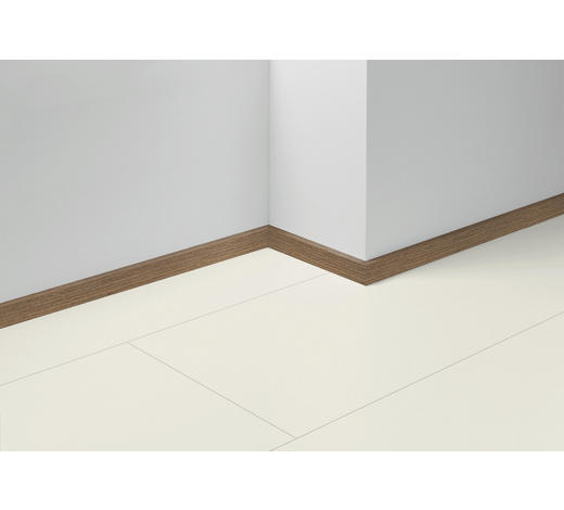 SOCKELLEISTE Braun, Eichefarben, Dunkelbraun - Eichefarben/Dunkelbraun, Basics, Holzwerkstoff (257/4/1,6cm) - Parador