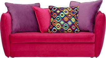 POHOVKA PRO DĚTI A MLÁDEŽ, fialová, růžová, textil, - růžová/černá, Design, textil/umělá hmota (145/63-77/75cm) - TI`ME