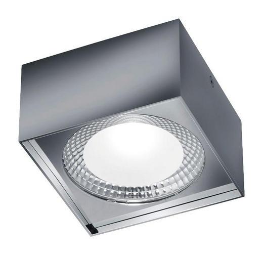 LED-DECKENLEUCHTE - Chromfarben, KONVENTIONELL, Metall (12/12/7cm) - Helestra