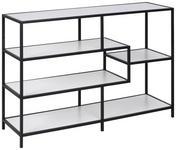 REGAL Schwarz, Weiß  - Schwarz/Weiß, MODERN, Holzwerkstoff/Metall (114/78/35cm) - Xora
