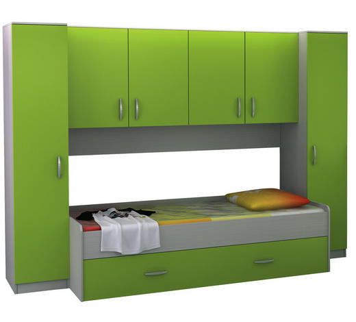 SOBA ZA MLADE - zelena, Konvencionalno, drvni materijal (285/200/94cm) - Boxxx