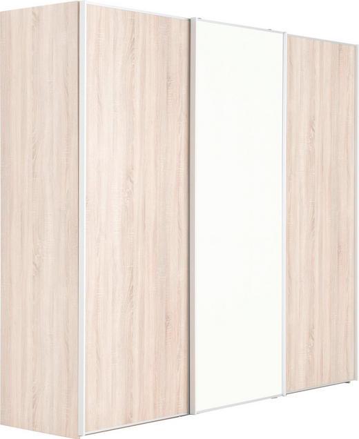 SCHWEBETÜRENSCHRANK in Sonoma Eiche - Alufarben/Sonoma Eiche, KONVENTIONELL, Glas/Holzwerkstoff (249/222/68cm) - Moderano