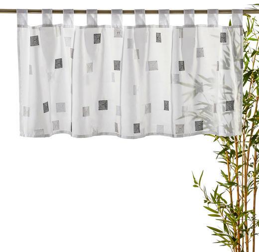 KURZGARDINE   140/48 cm - Weiß/Grau, Basics, Textil (140/48cm) - ESPOSA