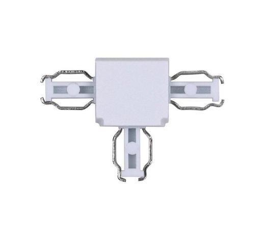 SCHIENENSYSTEM-VERBINDER - Weiß, Basics, Kunststoff (4,3/1,4/2,95cm)