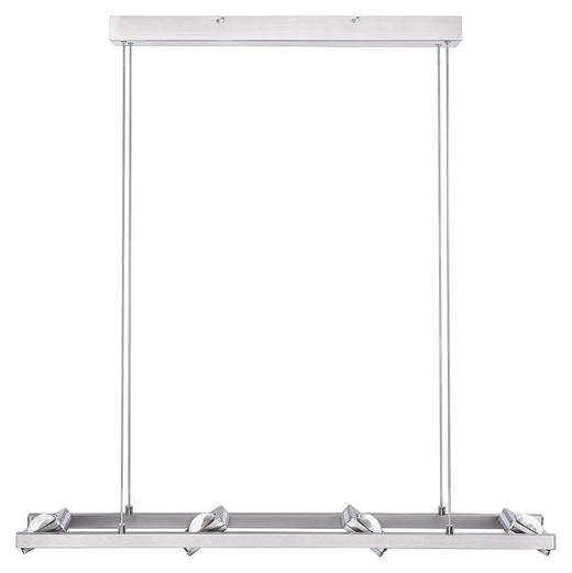 LED-HÄNGELEUCHTE - Nickelfarben, Design, Metall (99/15/120cm)