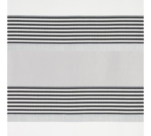 DEKOSTOFF per lfm halbtransparent - Schwarz/Weiß, Design, Textil (140cm) - Esposa