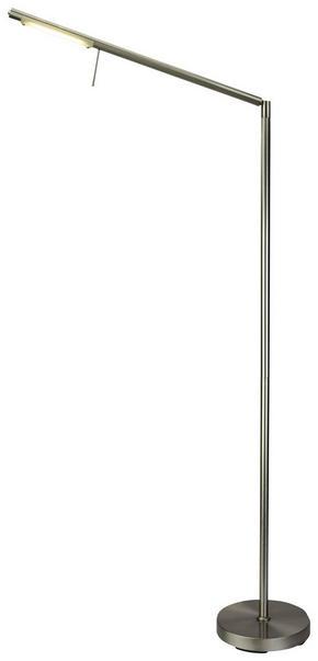 LED-GOLVLAMPA - nickelfärgad, Basics, metall/glas (20/160cm) - Novel