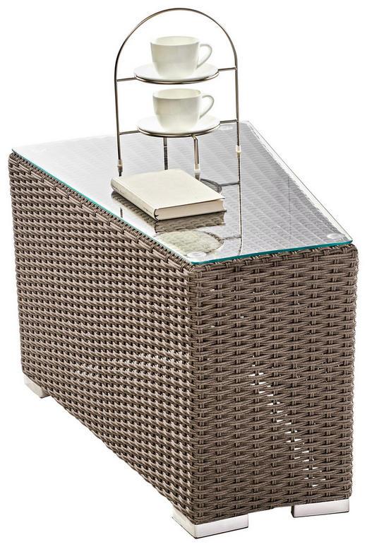 GARTENBEISTELLTISCH - Grau, Trend, Glas/Kunststoff (49/48/72cm) - Ambia Garden