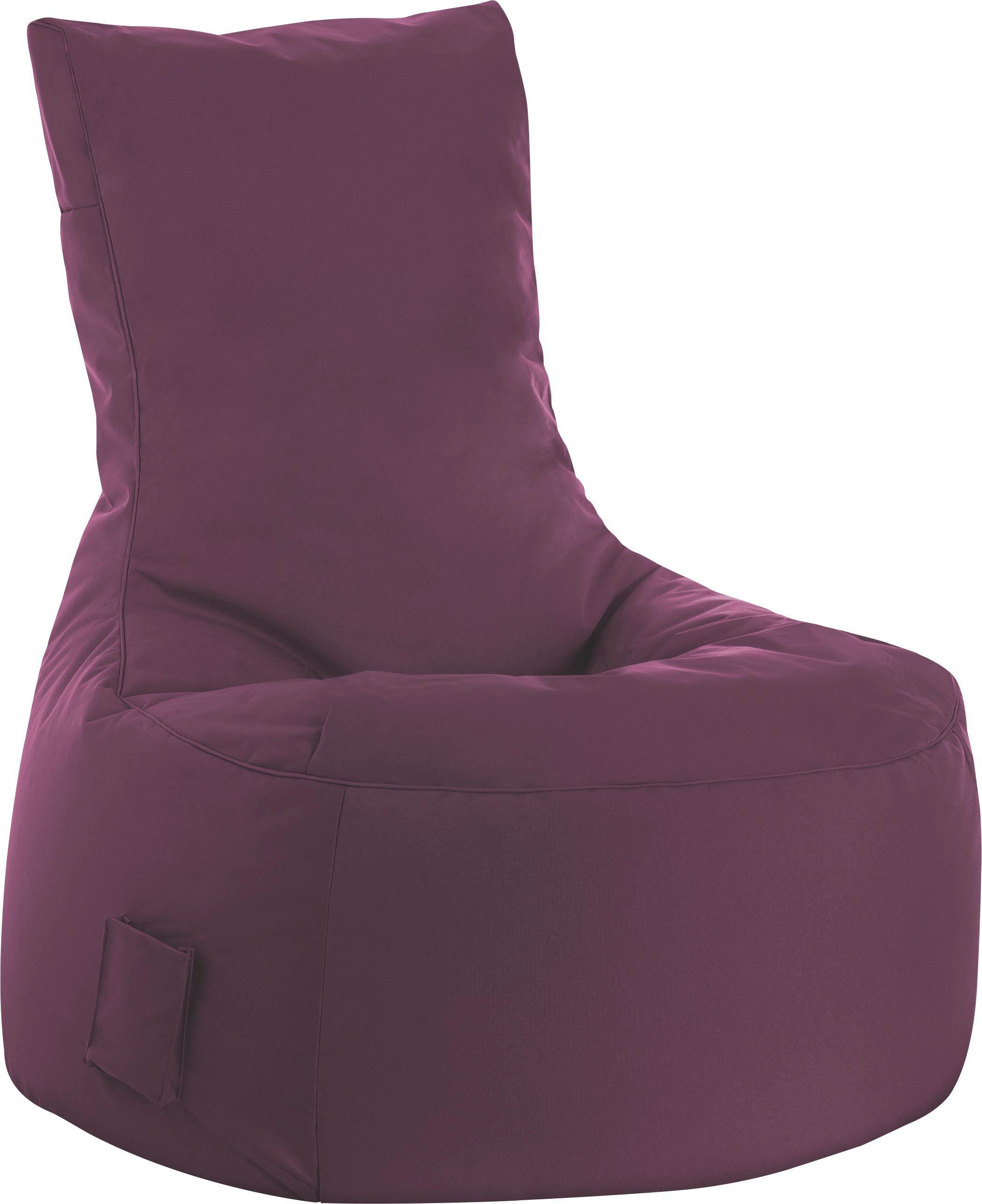 SITZSACK Aubergine - Aubergine, MODERN, Textil (90/95/65cm) - CARRYHOME