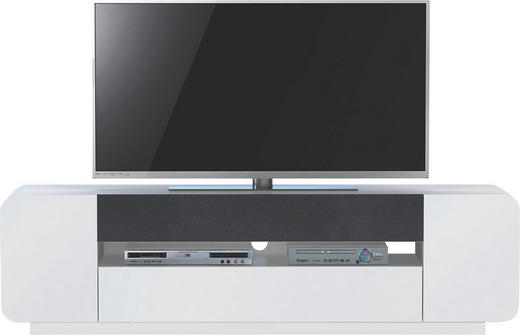 TV-ELEMENT Weiß - Weiß, Design, Glas (188/53/42cm)