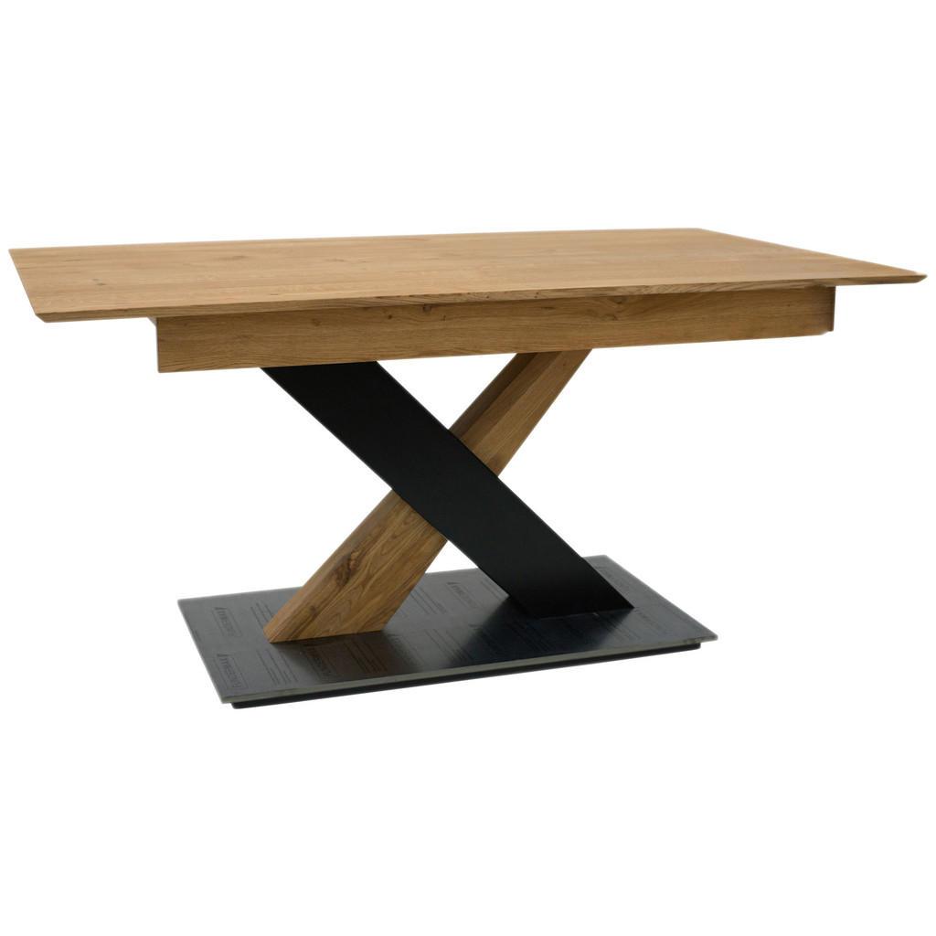 Celina Home Esstisch eiche massiv rechteckig schwarz, eichefarben , Classic 2020 , Holz , Eiche,Buche , massiv,massiv , 90x76x160(240) cm , geölt,