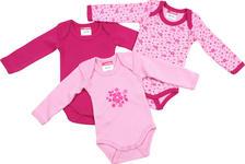 BABYBODY-SET 3-teilig - Rosa, Basics, Textil (50/56) - MY BABY LOU