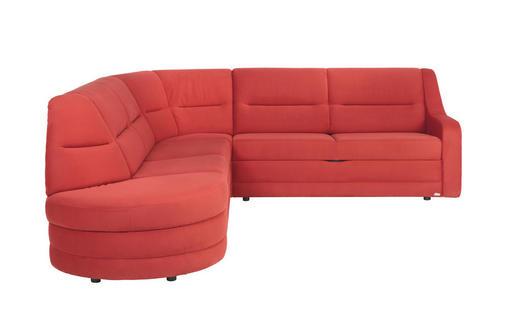WOHNLANDSCHAFT in Textil Rot - Rot/Schwarz, KONVENTIONELL, Kunststoff/Textil (285/251cm) - Sedda