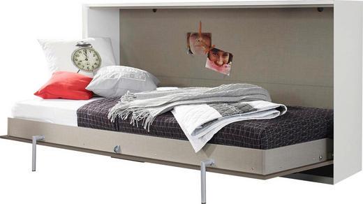 KLAPPBETT 90/200 cm - Weiß/Grau, Design (90/200cm) - Carryhome