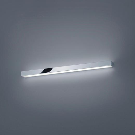 LED-WANDLEUCHTE - Chromfarben, Design, Metall (90/4,5/8cm) - Helestra