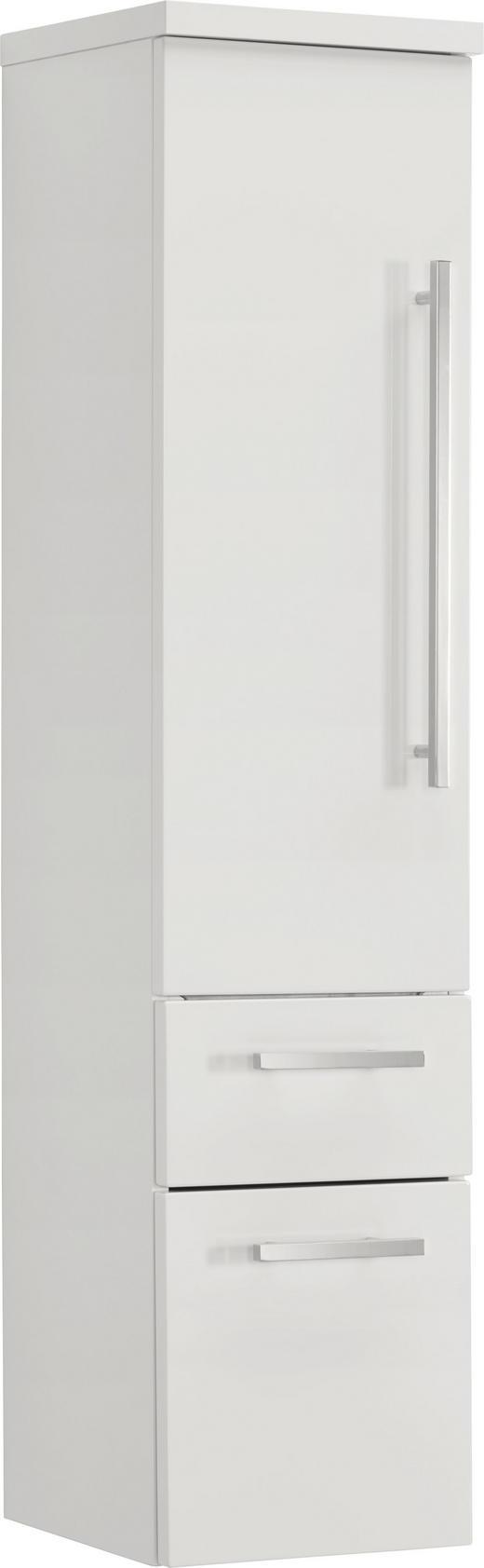 MIDISCHRANK Weiß - Silberfarben/Weiß, Design, Glas (30/130,8/30cm) - Novel