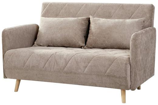 SCHLAFSOFA Webstoff Hellbraun - Hellbraun, LIFESTYLE, Holz/Textil (132/81/90cm) - Carryhome
