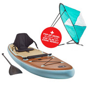 STAND UP PADDLE I-SUP III - Petrol, Trend, Kunststoff (290/76/15cm)