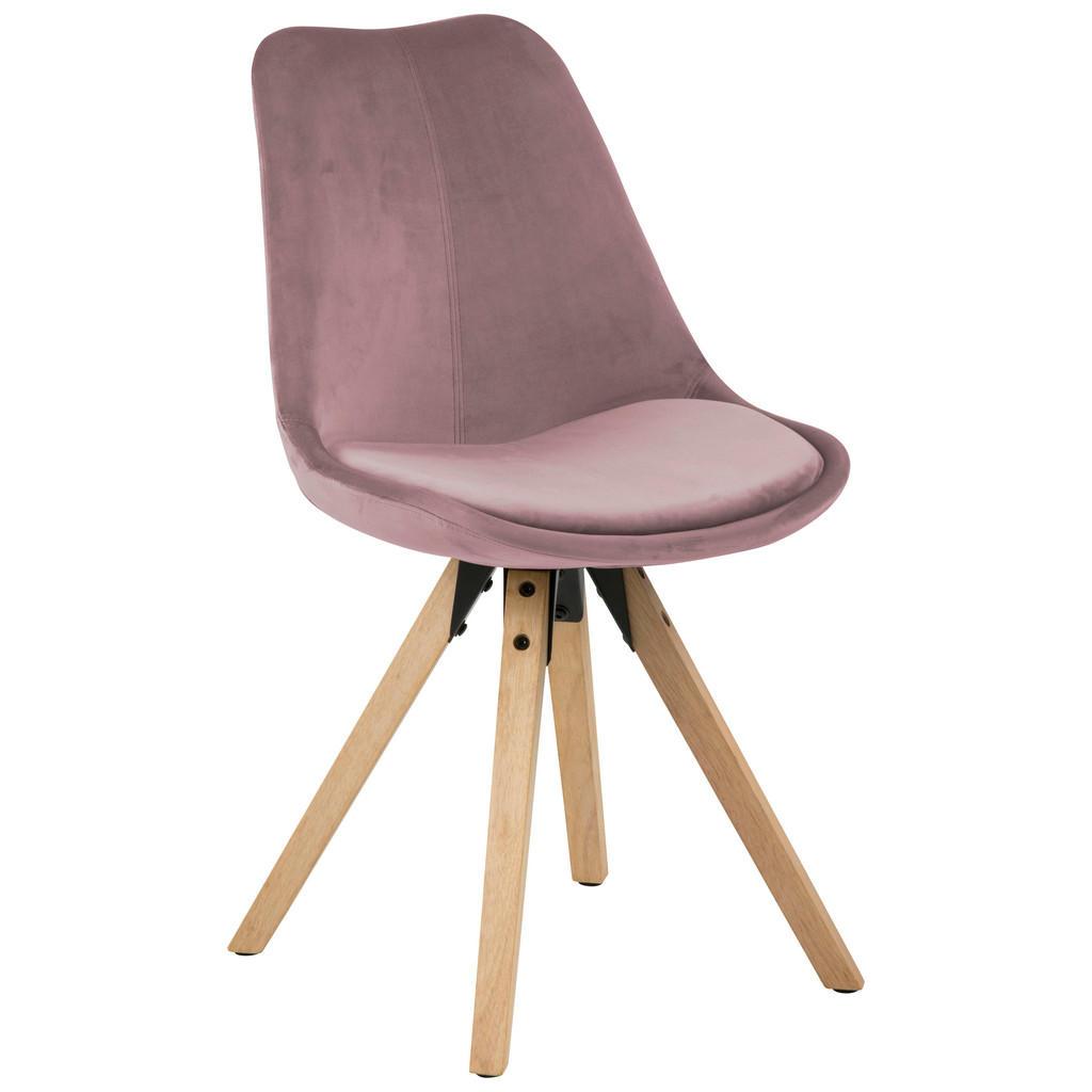 Ambia Home Stuhl samt rosa