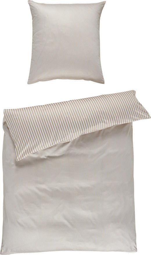 BETTWÄSCHE Satin Beige 155/220 cm - Beige, Basics, Textil (155/220cm) - JANINE
