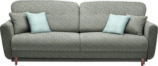 DREISITZER-SOFA Webstoff Blau, Grün - Blau/Mintgrün, Design, Holz/Textil (235/87/98cm) - Hom`in