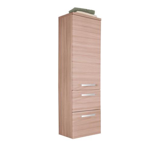 MIDISCHRANK 40/149,5/34,8 cm - Kastanienfarben/Chromfarben, Design, Glas/Holzwerkstoff (40/149,5/34,8cm) - Welnova