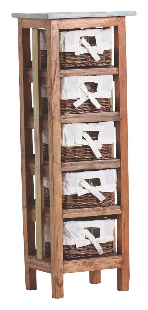 REGAL Altholz, Rattan - Design, Holz/Textil (40/110/30cm)