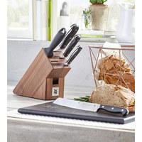 MESSERBLOCK 6-teilig Spitzenklasse Plus  - Edelstahlfarben/Braun, Design, Holz/Metall (36/19,5/14,5cm) - WMF