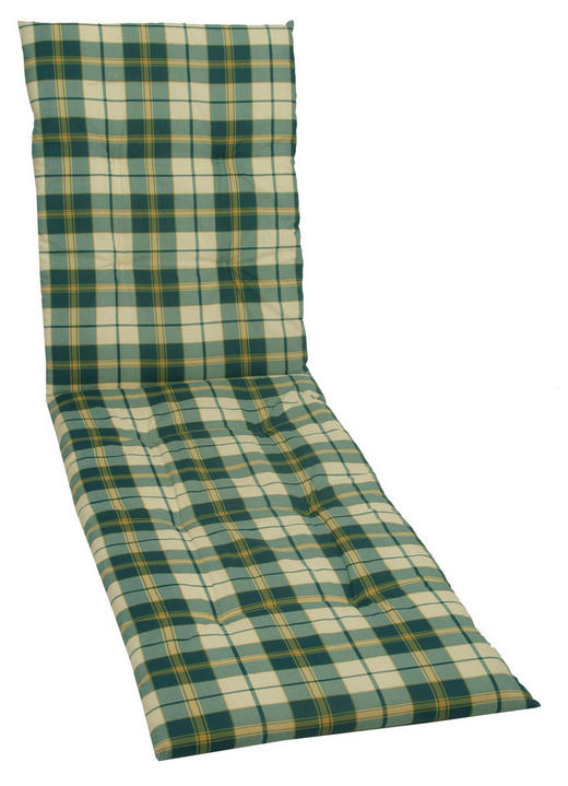 LIEGENAUFLAGE Karo - Grün, Design, Textil (60/190cm)