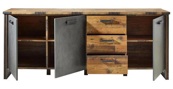 SIDEBOARD 207/88/42 cm  - Anthrazit/Grau, KONVENTIONELL, Holzwerkstoff/Kunststoff (207/88/42cm) - Hom`in