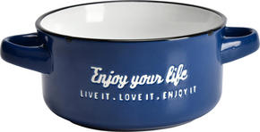 SOPPSKÅL - vit/blå, Lifestyle, keramik (13,7/7,5cm) - Landscape