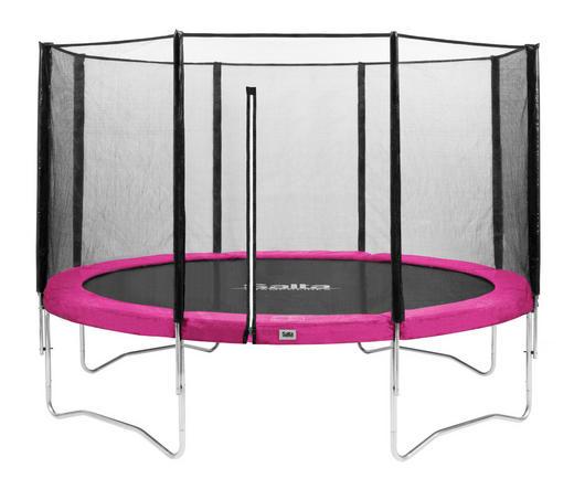 TRAMPOLIN SALTA COMBO Pink, Schwarz - Pink/Schwarz, Kunststoff/Metall (427cm)