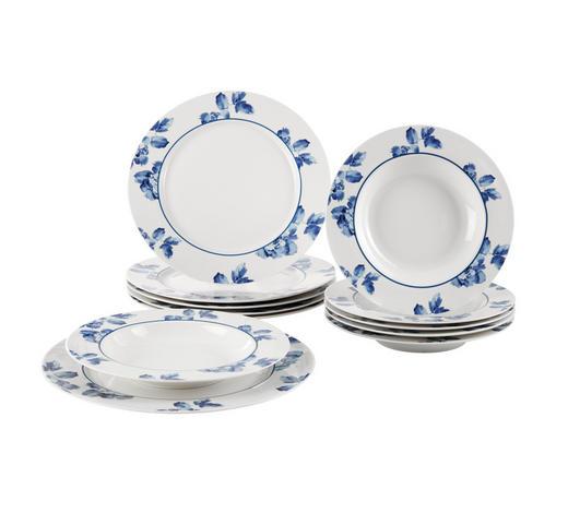 TAFELSERVICE 12-teilig - Blau/Weiß, LIFESTYLE, Keramik - Ritzenhoff Breker
