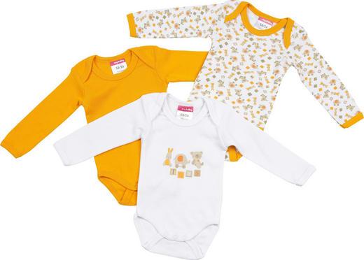 BABYBODY-SET - Gelb/Weiß, Basics, Textil (74/80) - My Baby Lou