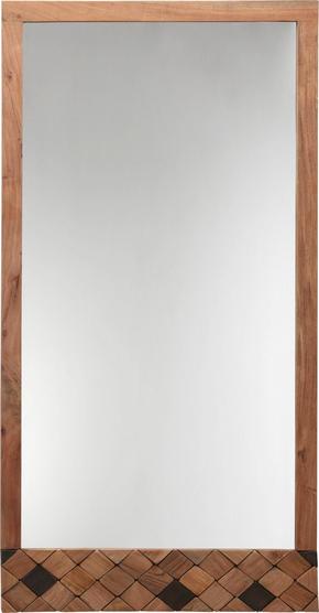 SPEGEL - akaciefärgad, Trend, glas/trä (76/150/3cm) - Ambia Home
