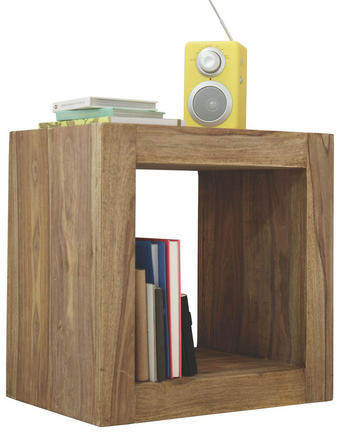 DĚLICÍ STĚNA - barvy sheesham, Lifestyle, dřevo (45/45/32cm) - LANDSCAPE