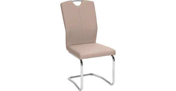 SCHWINGSTUHL in Metall, Textil Braun, Chromfarben - Chromfarben/Braun, Design, Textil/Metall (58,5/99,5/46cm) - Hom`in
