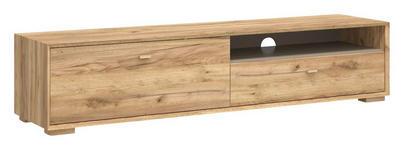 LOWBOARD melaminharzbeschichtet Eichefarben - Eichefarben, Design, Holz (187/41/45cm) - Linea Natura