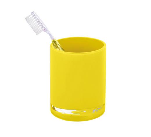 MUNDSPÜLBECHER Kunststoff - Gelb, Basics, Kunststoff (7,6/9,5cm) - Sadena