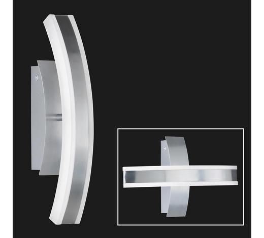 LED-WANDLEUCHTE   - Alufarben/Weiß, KONVENTIONELL, Kunststoff/Metall (36,5cm)