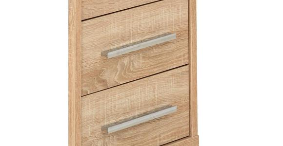 ROLLCONTAINER - Silberfarben/Sonoma Eiche, KONVENTIONELL, Holzwerkstoff/Kunststoff (43,8/63/65cm) - Voleo