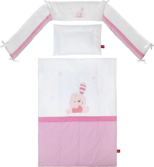 GITTERBETTSET Floppy Rosa, Weiß - Rosa/Weiß, Basics, Textil - My Baby Lou