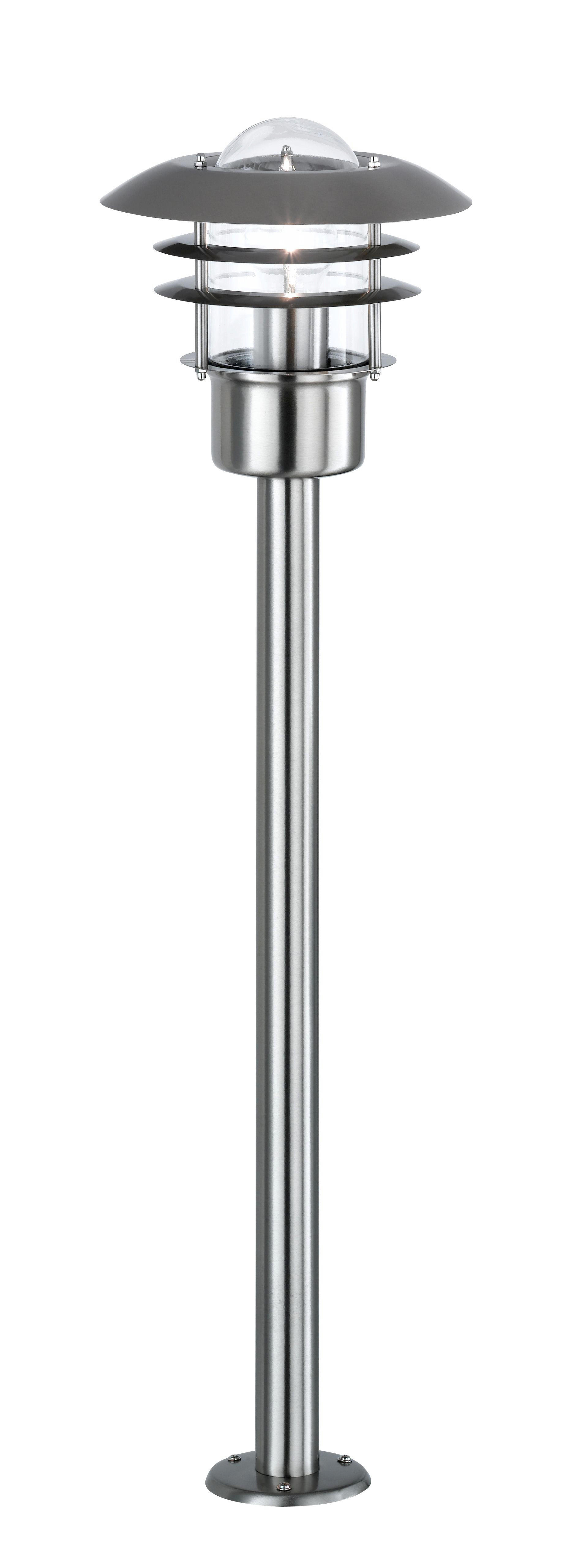 WEGELEUCHTE - Edelstahlfarben, Design, Metall (22/80cm)
