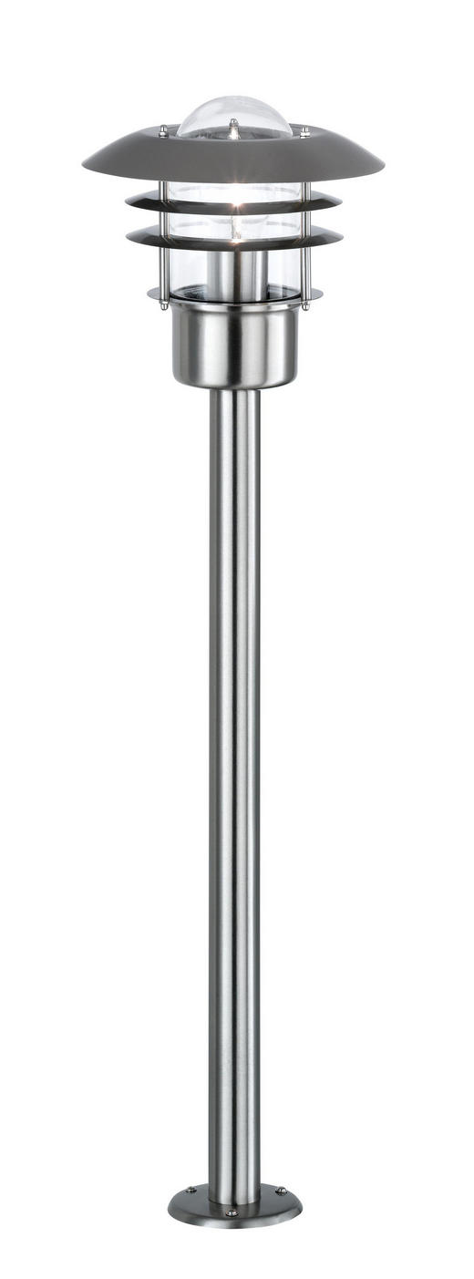 WEGELEUCHTE Edelstahlfarben - Edelstahlfarben, Design, Metall (22/80cm)