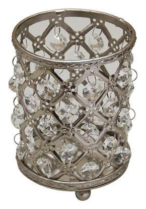 LJUSLYKTA - klar/silver, Trend, metall/glas (9/12,5cm) - Ambia Home