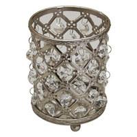 WINDLICHT - Klar/Silberfarben, Trend, Glas/Metall (9/12,5cm) - Ambia Home