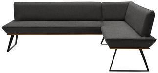 ECKBANK 223/183 cm  in Schwarz, Eichefarben, Dunkelgrau  - Eichefarben/Dunkelgrau, Design, Holz/Textil (223/183cm) - Voleo