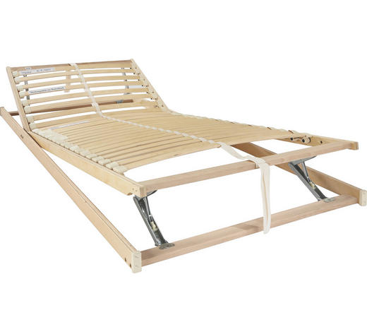 LATTENROST 140/200 cm - Birkefarben/Buchefarben, Basics, Holz/Kunststoff (140/200cm) - Sleeptex
