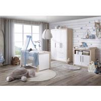 GITTERBETT Mathilda Esche Naturfarben, Weiß - Naturfarben/Weiß, KONVENTIONELL, Holz (74/140cm) - My Baby Lou