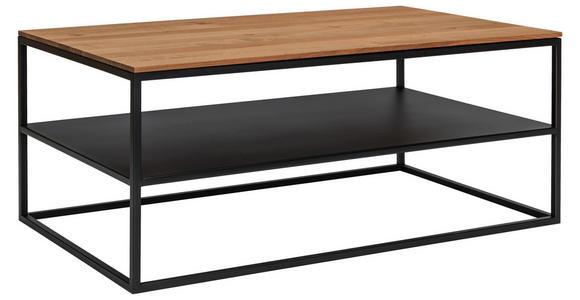 COUCHTISCH in Holz, Metall 100/60/41,5 cm   - Eichefarben/Schwarz, MODERN, Holz/Metall (100/60/41,5cm) - Xora